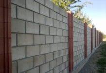 Забор из шлакоблока