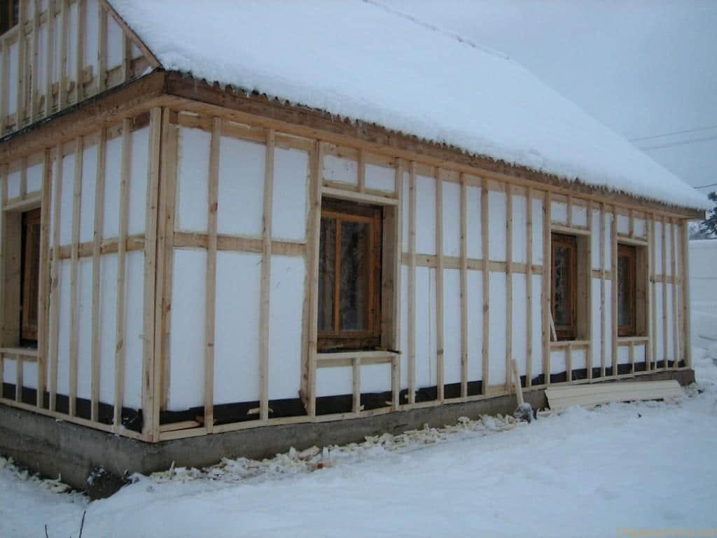 Утепление брусового дома снаружи