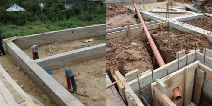 Как сделать в фундаменте отверстие под канализацию