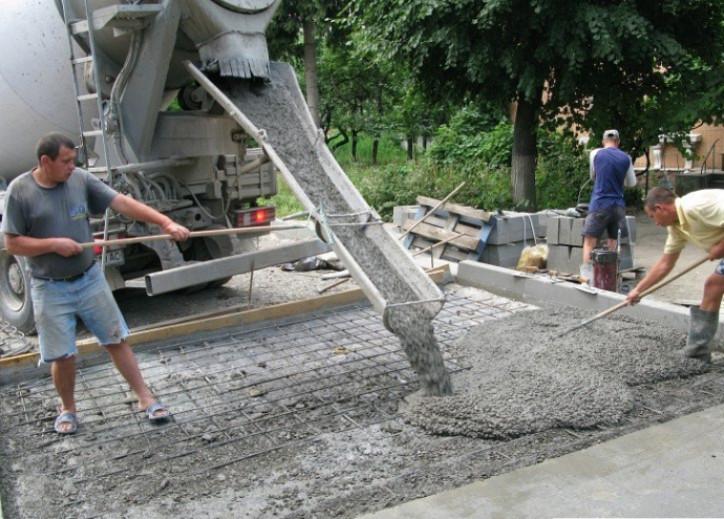 Объем бетона для заливки основания