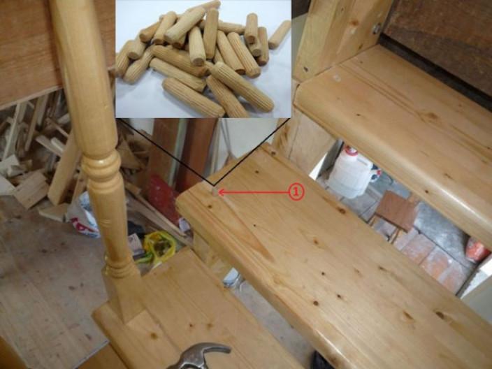 Надежное крепление балясин к тетиве лестницы самостоятельно