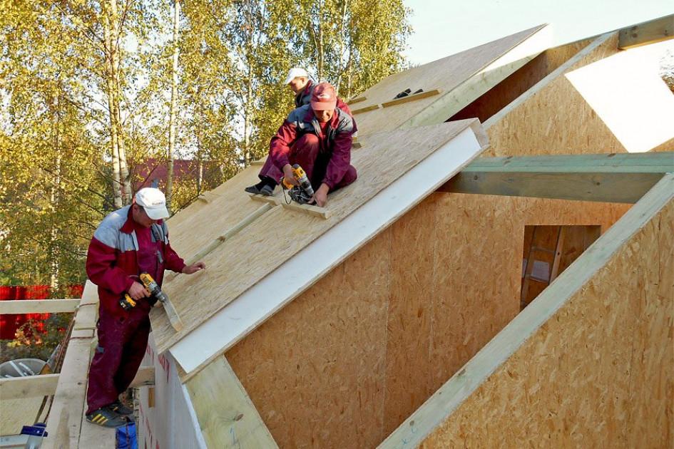 Использование СИП-панелей для мансардной крыши