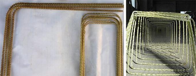 Гнутые элементы из стеклопластиковой арматуры