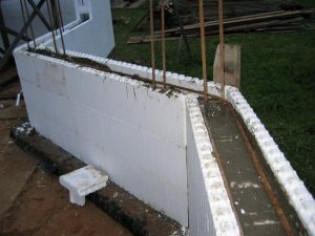 Изделие «пенополистирол-бетон-пенополистирол»