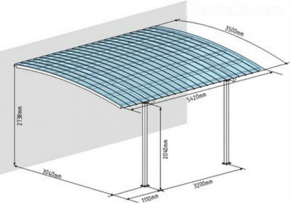 Общие характеристики металлических навесов