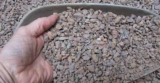 Заполнители — щебень и песок