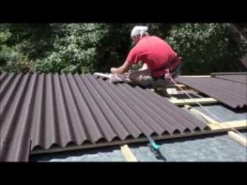 Как правильно покрыть крышу ондулином своими руками