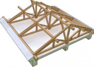 Из чего состоит стропильная система двускатной крыши