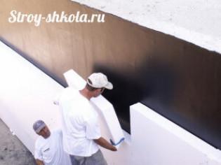 Технология утепления фундамента плитами из полистирола