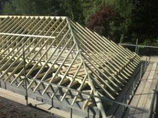 Как рассчитать систему стропил вальмовой крыши