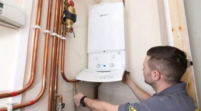 Установка газового нагревателя