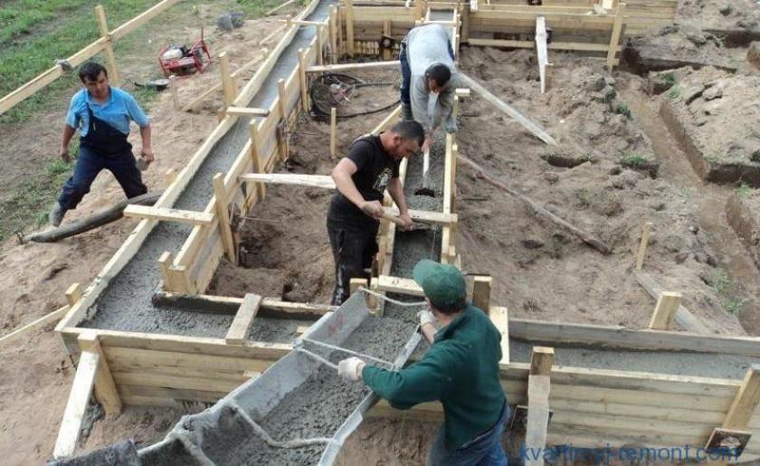 Какой бетон заказать для ленточного фундамента