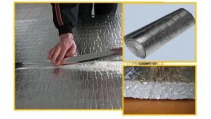 Фольгированный утеплитель для стен и пола