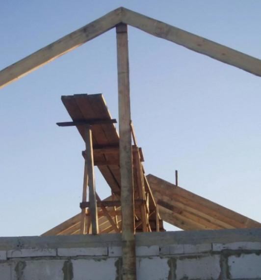 Сборка крыши