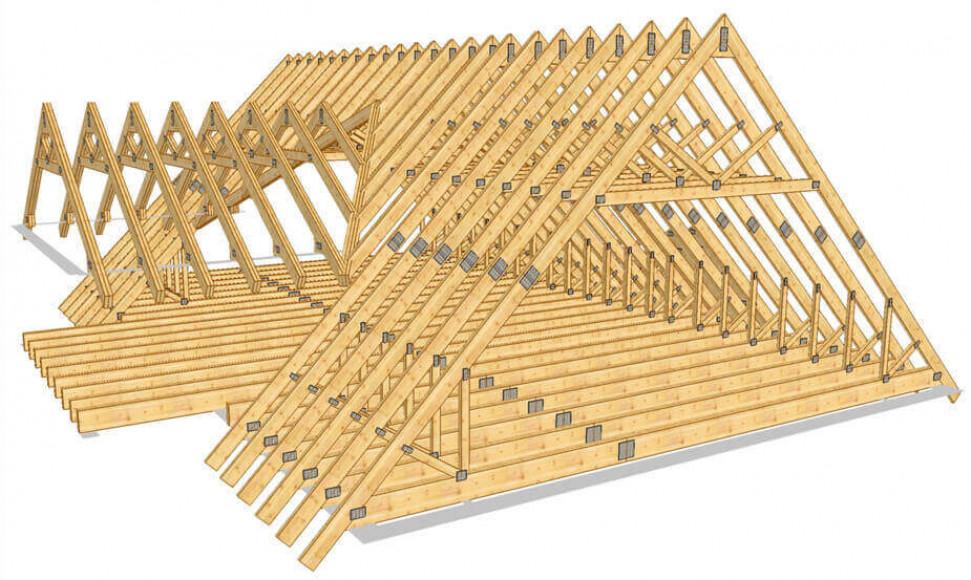 Стропильная система мансардной крыши. Чертежи классического варианта