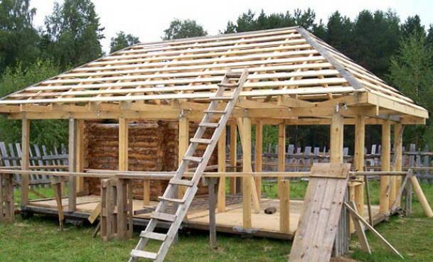 Устройство крыши с вальмами