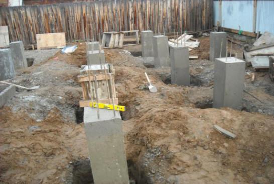Виды опорно-столбчатых фундаментов
