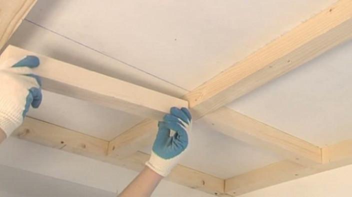 Как сделать кессонный потолок?