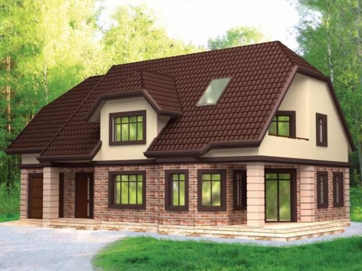 Вальмовая крыша для квадратных домов