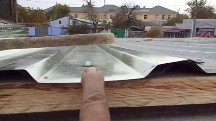 Крыша сарая из профнастила