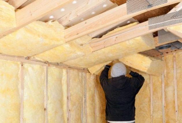 Толщина утеплителя для потолка