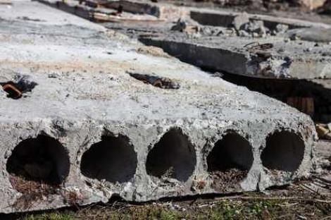 Демонтаж бетоной плиты.