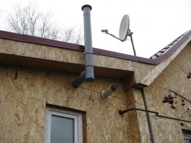 Важные недостатки монтажа дымохода через стену