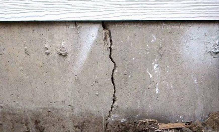 Признаки разрушения фундамента