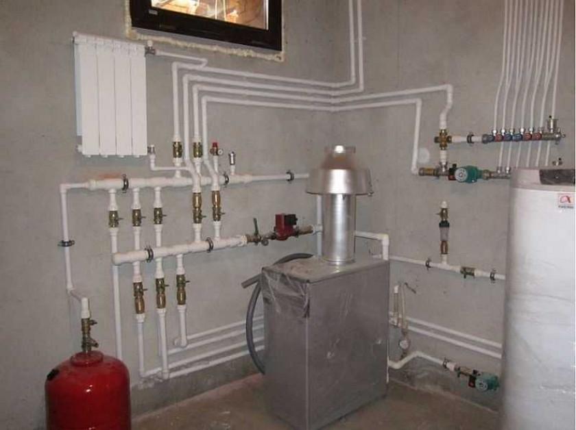 Место для установки газового котла