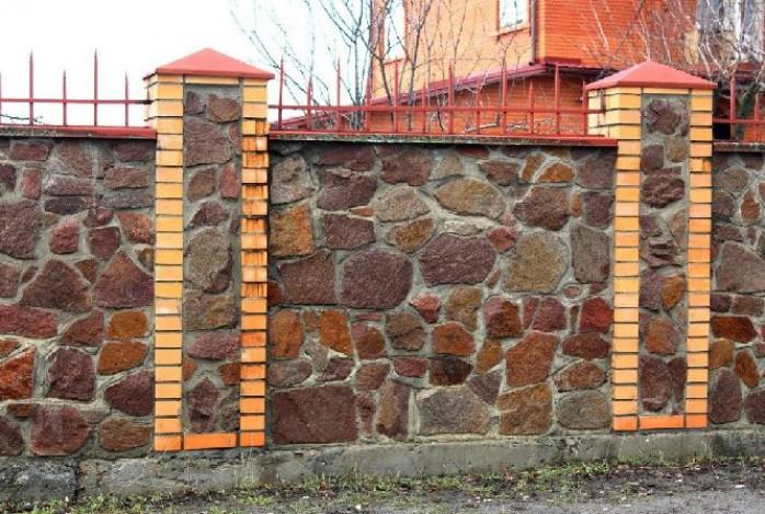 Структура каменного забора