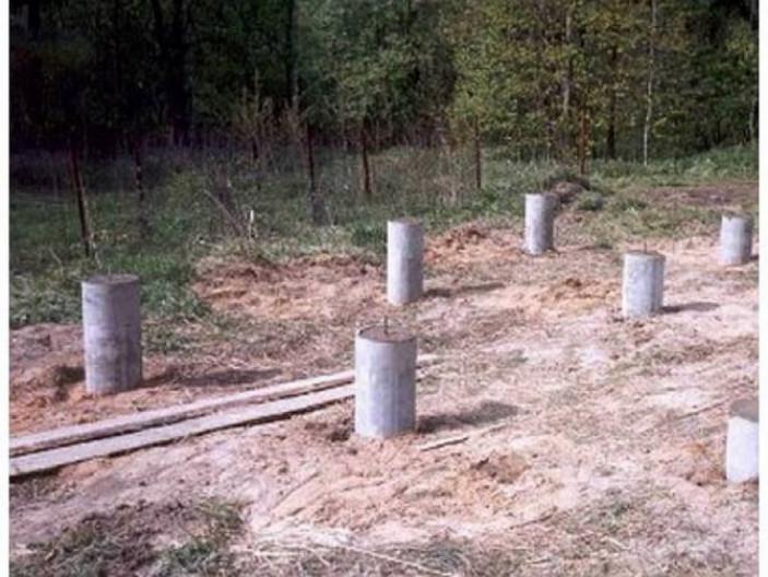 Начало изготовления столбов