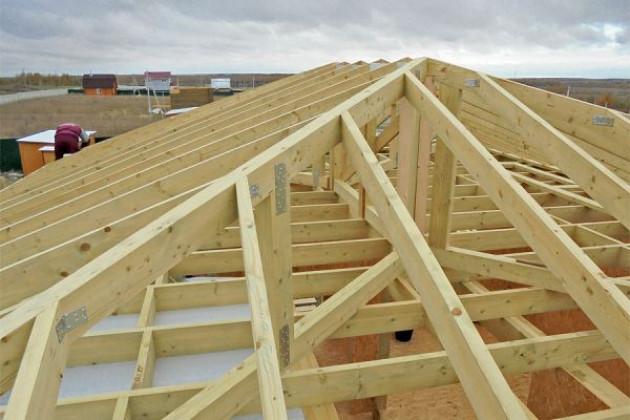 Шатровая крыша своими руками: последовательность строительства
