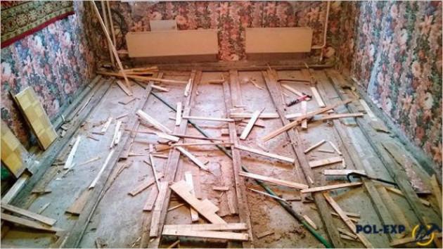 Основные способы демонтажа пола из древесины