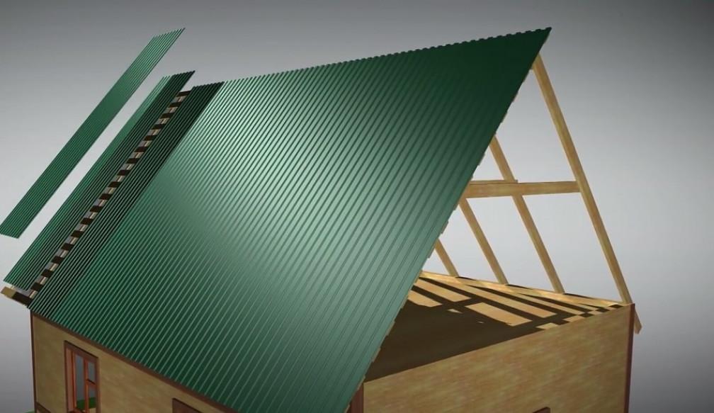 Как крепить профнастил на крыше: пошаговая инструкция