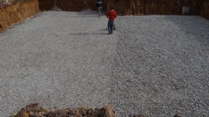 Устройство песчаной подсыпки