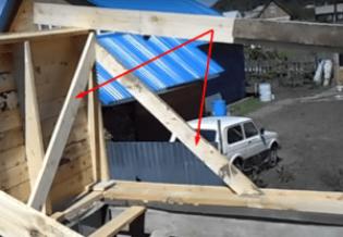 Строительство односкатной крыши своими руками