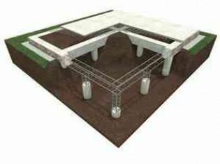 Строительство ростверка для фундамента
