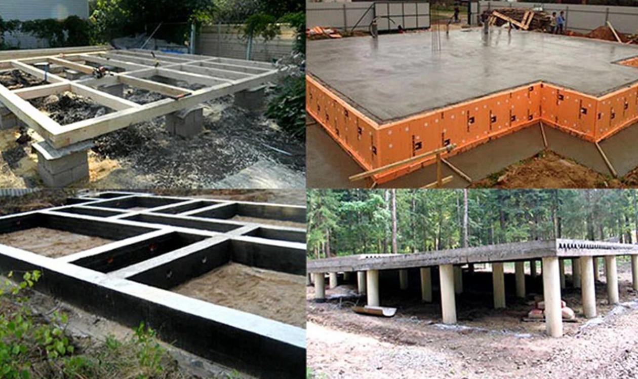 Виды фундаментов, применяемые при строительстве частного дома
