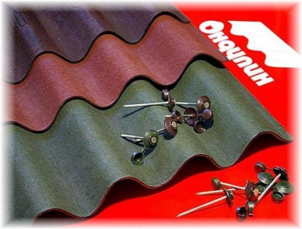 Крыша из ондулина — комплектующие материалы
