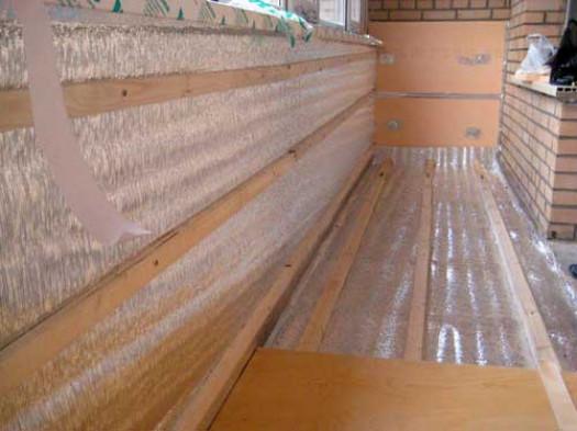 Внутреннее утепление стен лоджии какой материал надежнее